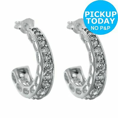 72f965370251f Revere Sterling Silver Cubic Zirconia Hoop Earrings From the Argos Shop on  ebay Free Instant Pickup Using Fast Track Click & Collect