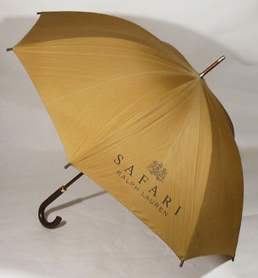 Vintage 90's Ralph Lauren Polo SAFARI wood cane umbrella 45""