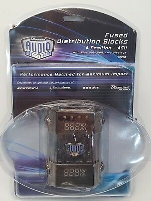 62250 Directed Audio 0 &4 Gauge In 4 &8 Ga Out Fuse Distribution Digital Block#