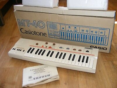 Vintage Casio Casiotone MT-40 Keyboard, Casio Electronic Keyboard, Japan Boxed
