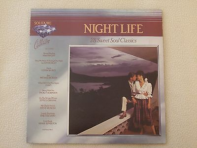 NIGHT LIFE - 28 Sweet Soul Classics 2LP Solitaire Collection 1983 Marvin Gay