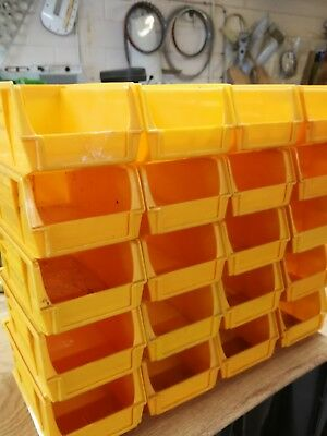 Lin Bin total 20 small Storage Plastic Boxes Garage Storage used but clean