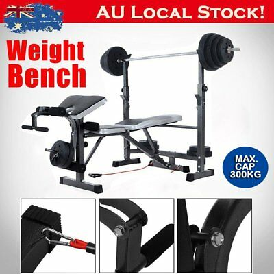 Mliti-Station Weight Ajustable Bench Press Home Gym Exercise Fitness Equipment B