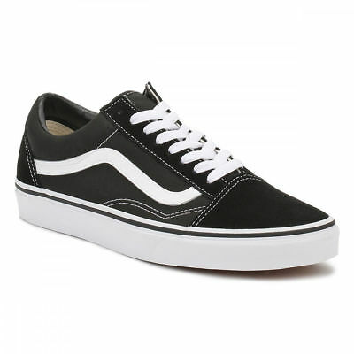 Vans Old Skool Black White Canvas Trainers UK Sizes [3-12]