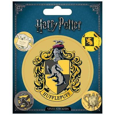 Harry Potter Vinyl Stickers Hufflepuff Pack of 5 Hogwarts Voldemort Official Set