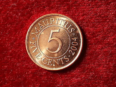 10089/2) 5 Cents (Mauritius) 2004 in UNC- ............................Berlin.007