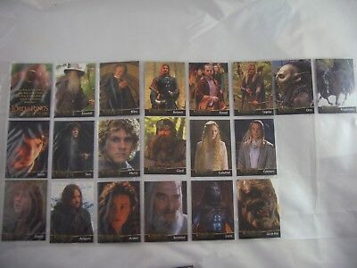 Lord of the Rings TFoTR L1-L20 Trading Cards Set