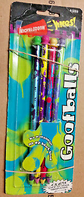 NICKELODEON YiKES 4 Goofballs Pencils 91330 Aged Open Collectable Package - RARE