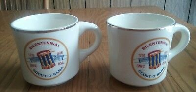2 Vintage Boy Scouts Cups Mugs ~ Greater Niagara Falls Council 1976 Bicentennial