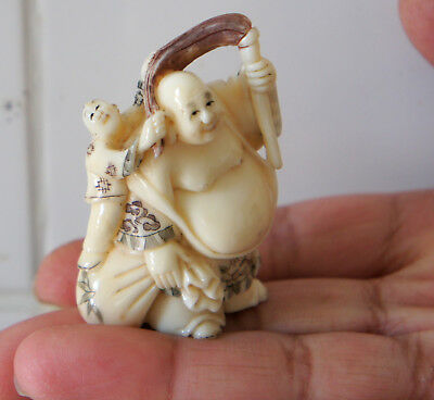 High Quality Cattle Bone Japanese Netsuke  No 3