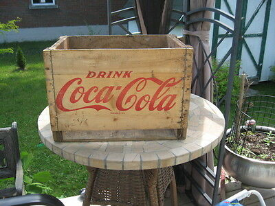 "Vintage Wood Coca Cola Box  12""inches 17.75""inches"