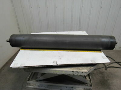 "59"" x 8"" Rubber Coated Crowned Center Conveyor Belt Drive Tension Roller"