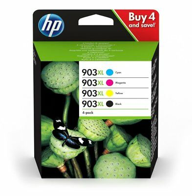 Genuine HP 903XL Black Cyan Magenta Yellow Ink Cartridges For Officejet Pro 6960