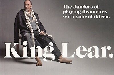 King Lear by Bell Shakespeare Promo Postcard 2010 John Bell Leah Purcell