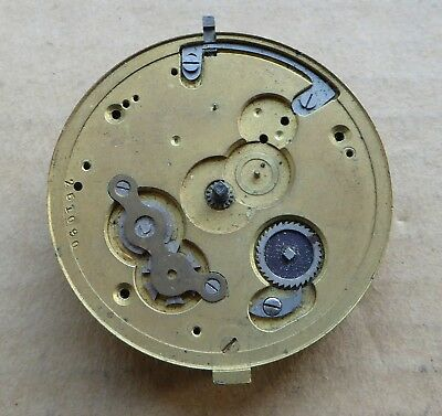 Fusee pocket watch movement for repair, Max Cohen Manchester, 48mm.