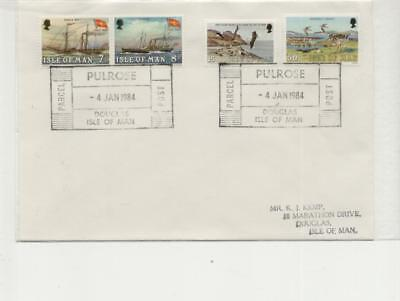 Isle of Man 1984 Pulrose Parcel Post Cancellation on Cover