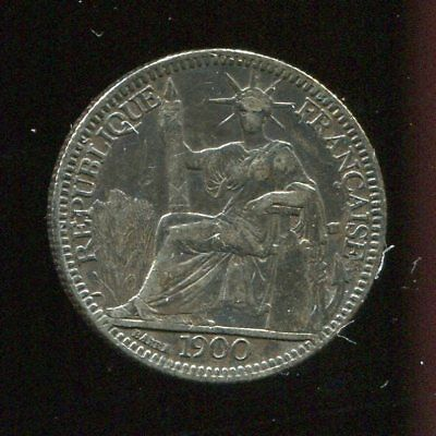 ** French Indo-China 1900.a , 10 Cents Silver....rare Date **