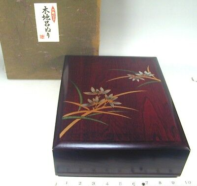 FUMIBAKO Box #13 Japanese NOS Wood Letter Paper Stationary Storage Papeterie