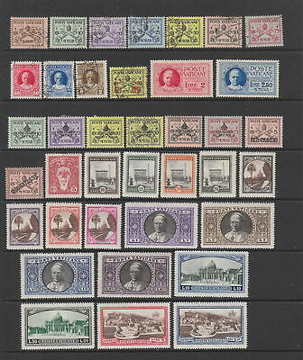 Vatican early collection , 38 stamps MH / fine used