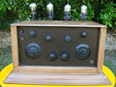 Superbe Et Rare Radio Tsf A 4 Lampes Exterieures Dont 2 A Pointes