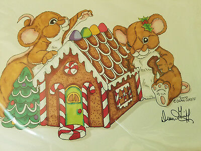 DEAN GRIFF Gingerbread House Matted ARTWORK CHARMING TAILS Cute! No name on it.