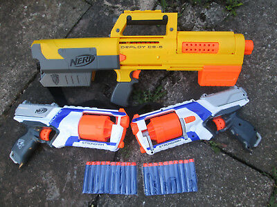 Nerf bundle. Deploy CS-6 and 2 x White Nerf Strongarm pistols + 20 rounds ammo