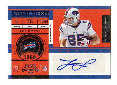 Lee Smith Nfl 2011 Playoff Contenders (Bills,raiders,patriots) Auto Rookie Card