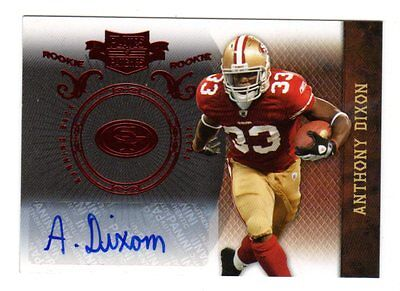 ANTHONY DIXON NFL 2010 PANINI PLATES AND PATCHES AUTOGRAPH (49ers, BILLS)