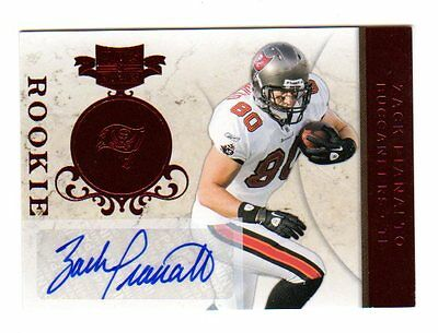 Zack Pianalto Nfl 2011 Panini Plates And Patches Auto Rookie Card ( Buccaneers)