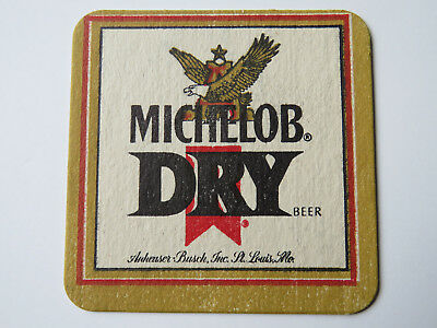 Beer Coaster ~ MICHELOB Dry ~ See STORE for 1000s of Worldwide Coasters, Caps, +