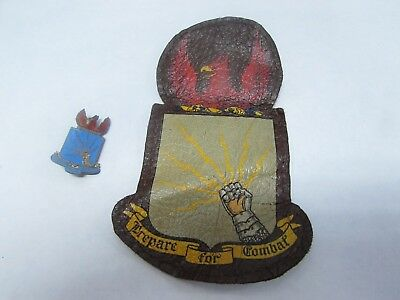 WWII U.S. Army AC leather A-2 jacket patch and crest pin for Southeast Air Force
