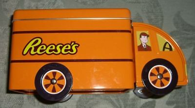 Collectible REESE'S CANDY (The Hershey Co.) Biscuit Tin Truck w. Rotating Wheels