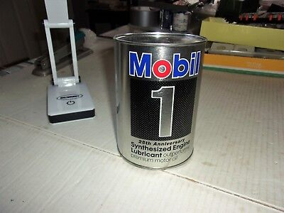 Very Nice Vintage Mobil One 25th Anniversary Quart Advertising Bank - Lot # 2