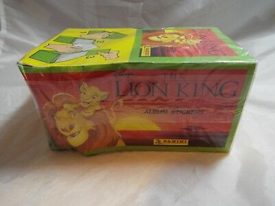 THE LION KING SEALED BOX OF STICKERS, 100 packs by Panini