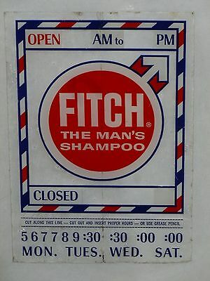 "NOS Vintage Barber Shop Sticker ""FITCH THE MAN""S SHAMPOO"""