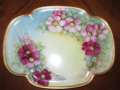 Antique Decorative Dresser Tray / Plate Roses French Shabby Chic Cottage