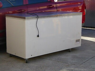 Chest Freezer Large With Stainless Steel Work Bench Prep Standard 10A Plug