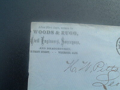 1870s Surveying,Draughtsmen,Woods,Rugg family/Worcester,Mass.,ADVERTISING Cover!