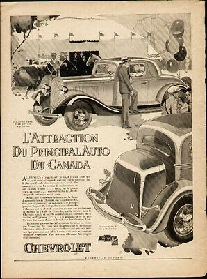 1933 Chevrolet Six Coupe French ad