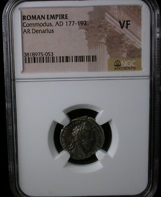 ROMAN EMPIRE Commodus AD 177-192 AR DENARIUS NGC VF ANCIENT COIN