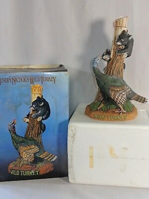 Large Austin Nichols Wild Turkey With Bears Whiskey Decanter