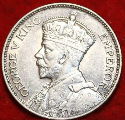 1935 New Zealand Shilling Silver Foreign Coin