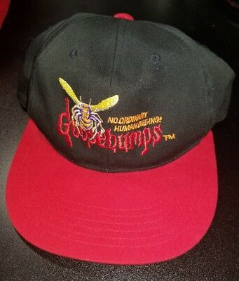 VTG 1995 Goosebumps Cap YOUTH  Snapback NoOrdinary Human Bee-ing Hat ! R.L Stine