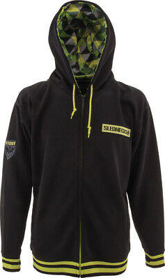 Slednecks Destroy Zip-Up Hoodie Black L