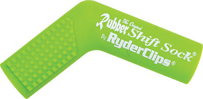 Ryder Clips Rubber Motorcycle Shift Sock Shifter Cover Green