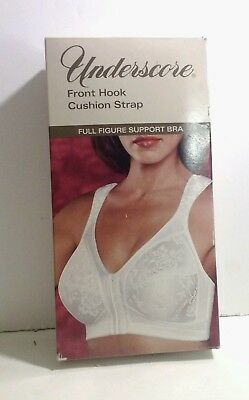 Vintage New JCPenney Underscore Comfort Hours Cushion Strap Bra Full Figure 40B