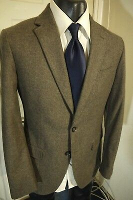 Banana Republic Tailored Fit Size 38R Taupe 2 Button Sportcoat W/dual Vents