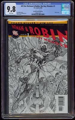 All Star Batman & Robin #1 Cgc 9.8 Retailer Incentive Variant Jim Lee Sketch Cvr