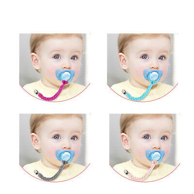 Baby Kids Dummy Pacifier Soother Nipple Leash Strap Chain Clip Holder Gifts 4pcs