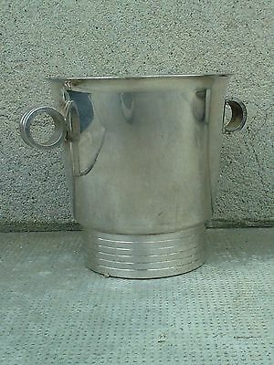 seau a champagne art deco moderniste metal argenté ice bucket poincon